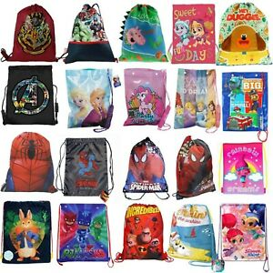 Children Swim Sports Gym Bag Character School Girls