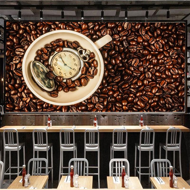 3D Grains Café 33 Photo Papier Peint en Autocollant Murale Plafond Chambre Art