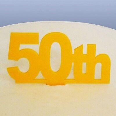 50º Compleanno Cake Topper-giallo- Vendita Calda 50-70% Di Sconto