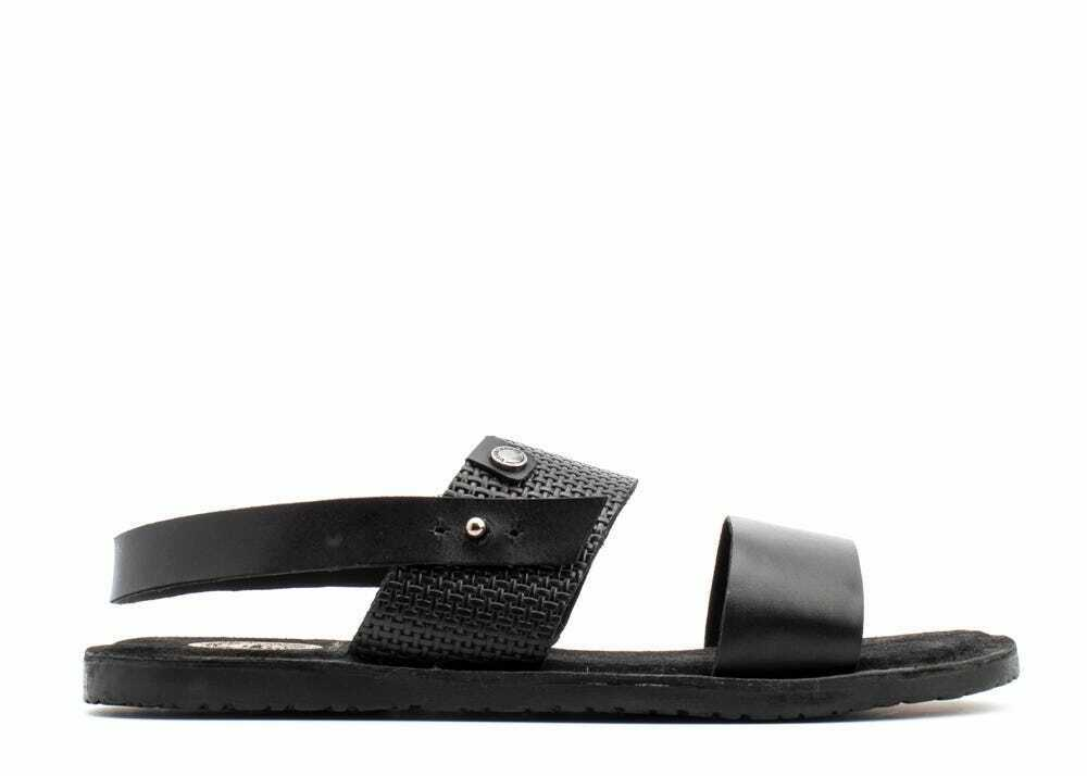 Mens Black Sandals, Empire Leather Slip Ons by Base London