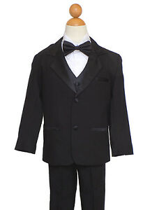 Sz: All Sizes Recital Navy Blue//White Suit Ring Bearer Boys Holiday
