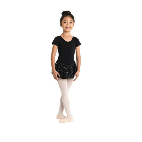 #293 DANZnMOTION Girl/'s Short Sleeve Dress With Hologram Dots