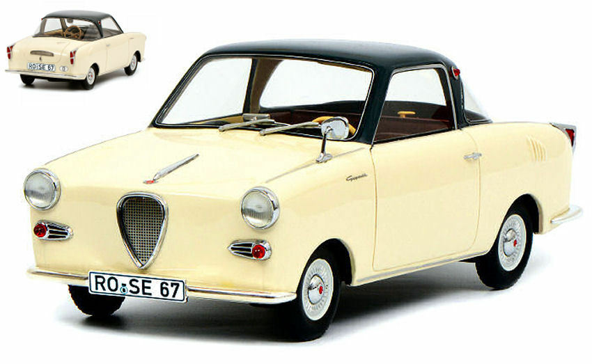 Goggomobile Coupe' Ts 250 1957 Cream 1 18 Model 0109 SCHUCO