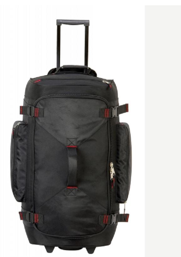 Trolley suitcase holdall voyage capacité  78 lt diPour des hommesions  70 x 31 x 36 cm