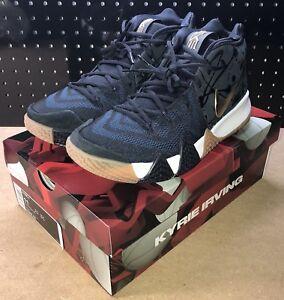 c4b6d20236b3 Nike Kyrie 4 Pitch Blue Metallic Gold Men s Basketball Shoes Size 11 ...