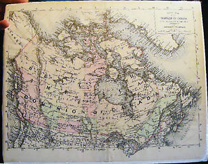 1894 DOMINION OF CANADA HAND COLORING JOHNSON