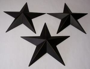 Hearthside-Collection-12-034-Black-Metal-Accent-Stars-Set-of-3-NEW-Primitive