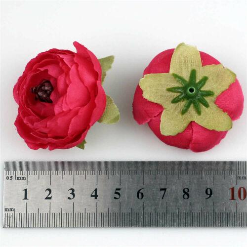 "100Pc 2/"" Artificial 3D Flower Head Craft Fake Camelliae Wedding Home Party Decor"