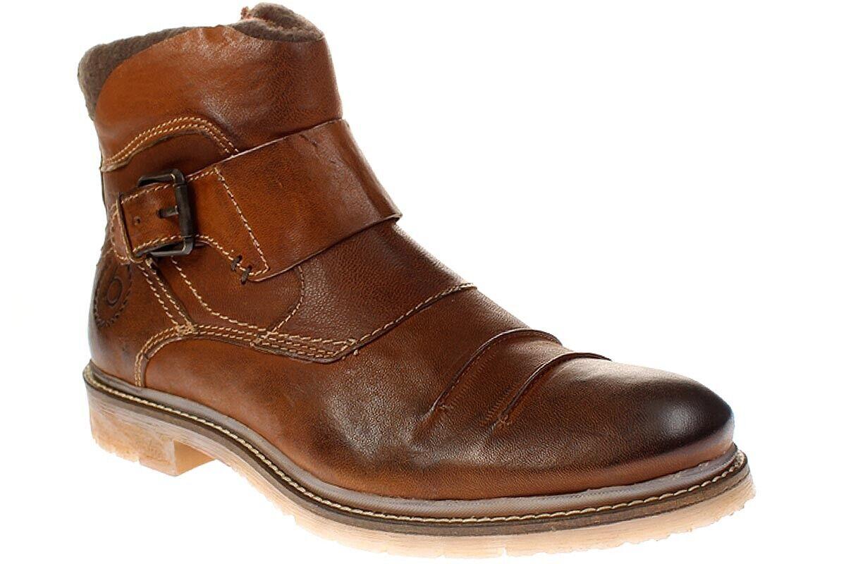 Bugatti Shake-CABALLERO zapatos botas - 321-33531-2200 - 6300-Cognac