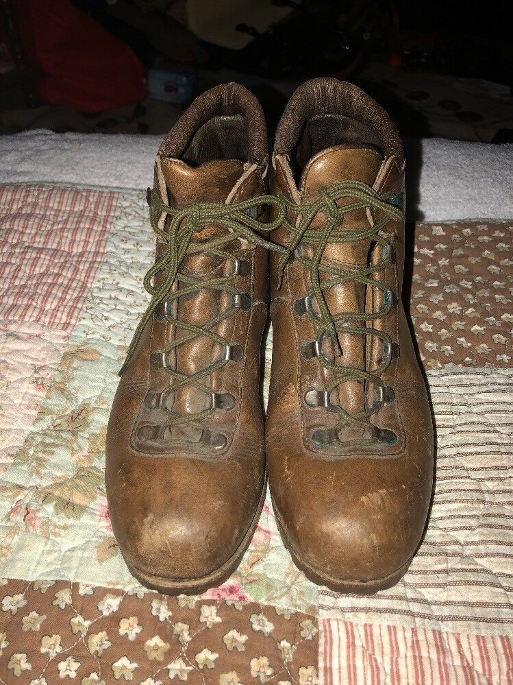WOMEN'S DUNHAM TYROLEANSE VINTAGE BOOTS MADE ITALY SZ 8 BROWN HIKING OUTDOORS
