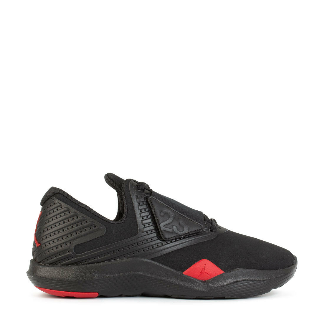 Men's Jordan Relentless Trainer Athletic Fashion Sneakers Black Red AJ7990 003