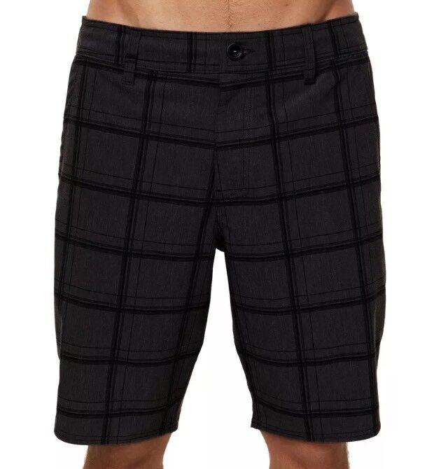 O'NEILL Mens Mixed Hybrid Shorts Size 32 Blk