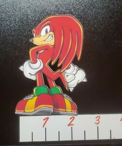Sonic The Hedgehog Knuckles Vinyl Stickers Ebay