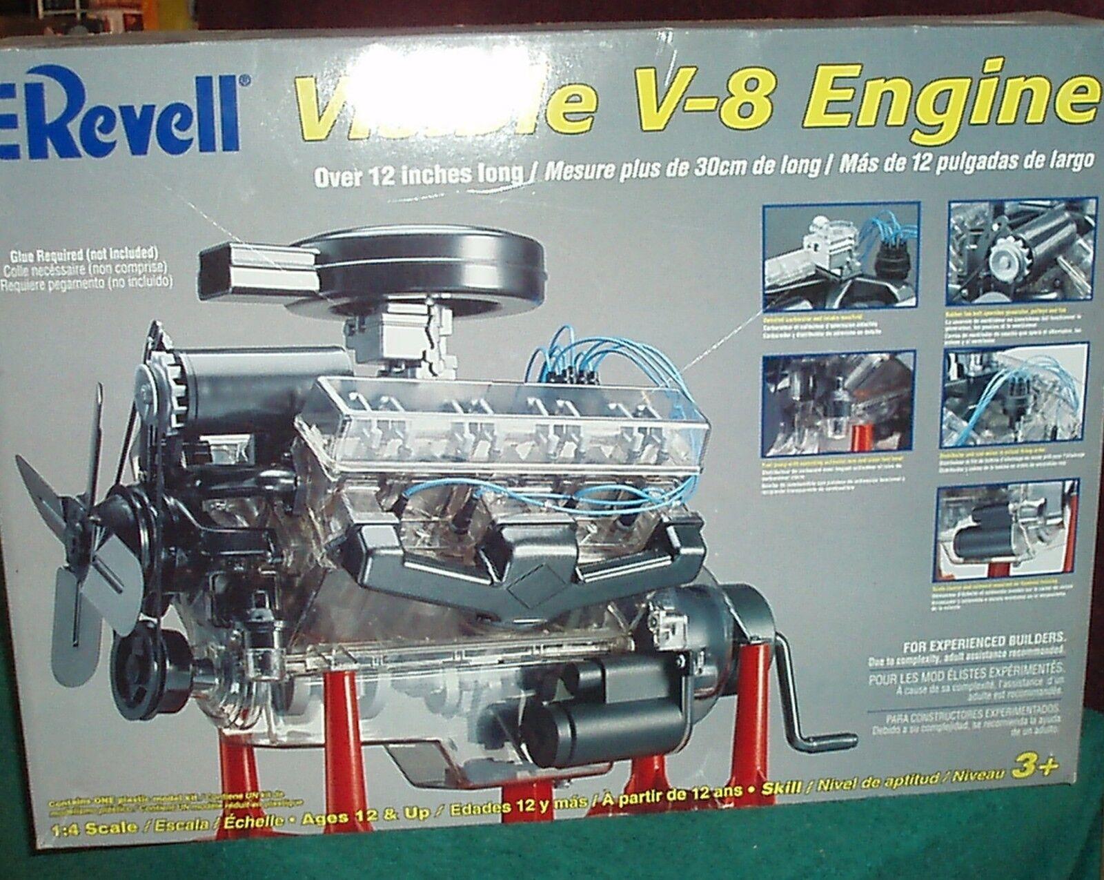 Plastik revell sichtbar v8 motor abgedichtet, 1   4 maßstab 12  lange