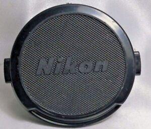 Nikon-52mm-snap-on-Front-Lens-Cap-genuine-early-ALL-BLACK-Nikkor-50mm-58mm-f1-4