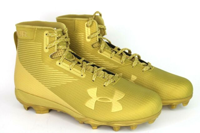 1289775-700 Under Armour NEW Gold Football Cleats Size 14 Art