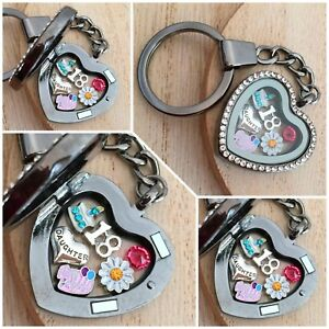 30th40th 50th 60th**** Personalised BIRTHDAY Gift Floating Heart Locket keyring Collectables