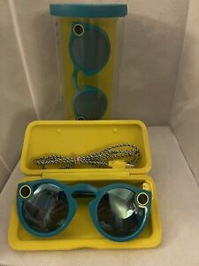 2016 Snap Inc. Spectacles Snapchat Camera Sunglasses Teal New Open Box!