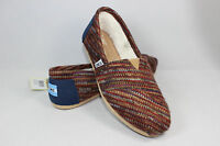 Authentic Toms Women's Classics Rust Knit Shoes With Original Box