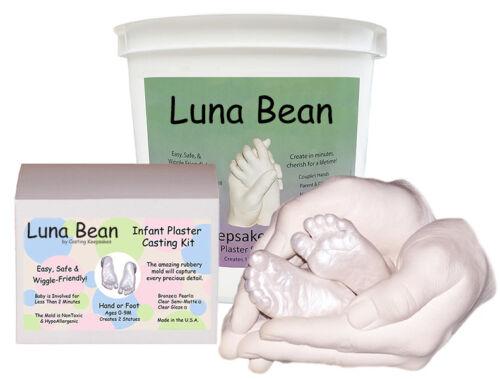 Luna Bean Dad MOM /& BABY KEEPSAKE BUNDLE SET Parent Child Casting Kit Family