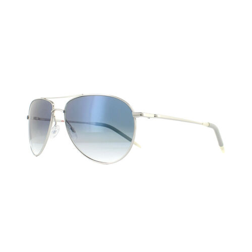 Oliver Peoples Sunglasses Benedict 1002 5241//3F Silver Chrome Sapphire VFX