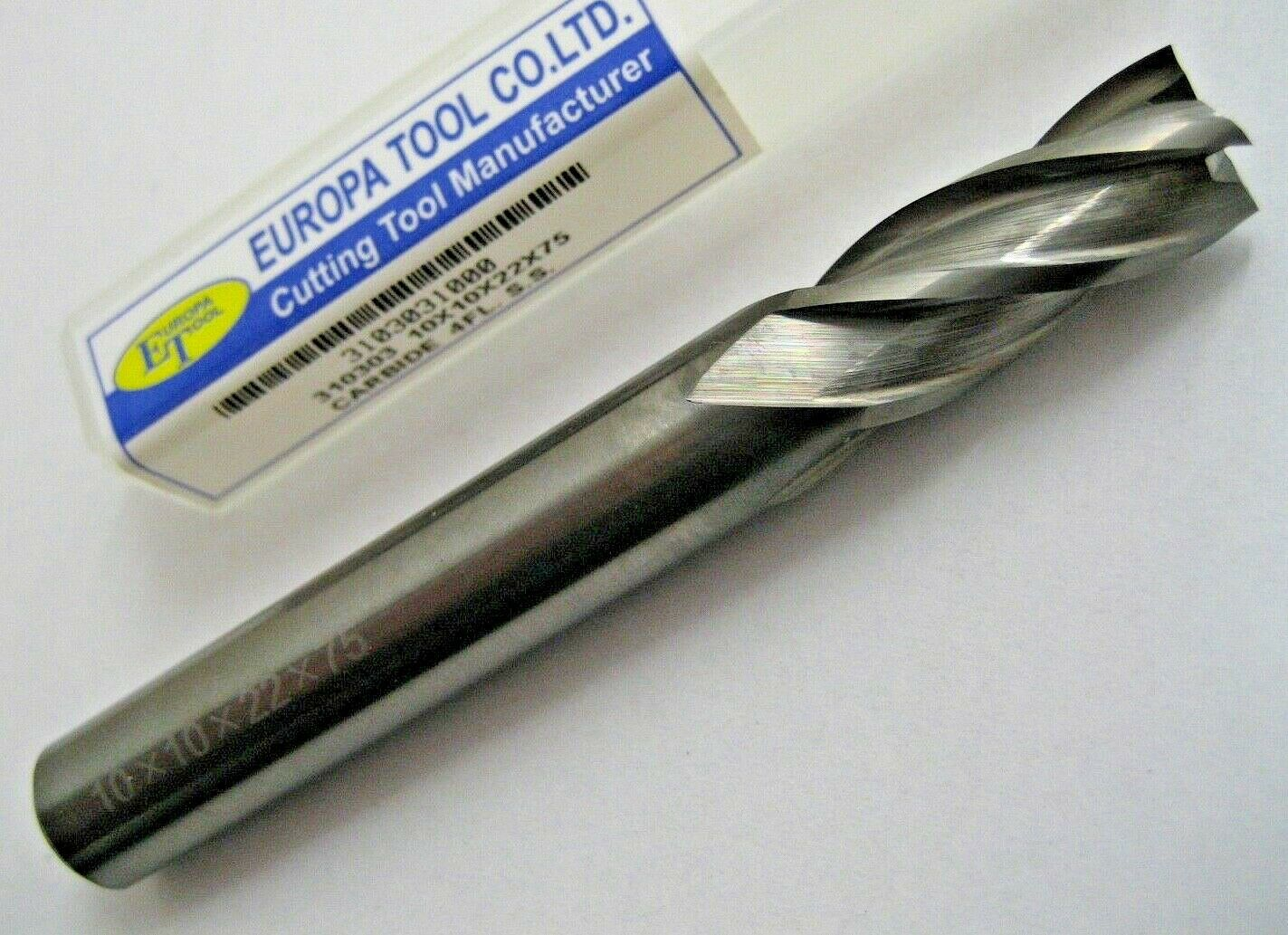 7mm SOLID CARBIDE END MILL 4 FLUTED EUROPA TOOL 3103030700 NEW /& BOXED  C5