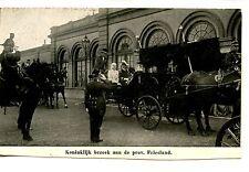 Royal Visit-Friesland-King-Queen-Carriage-Holland-Netherlands-Vintage Postcard