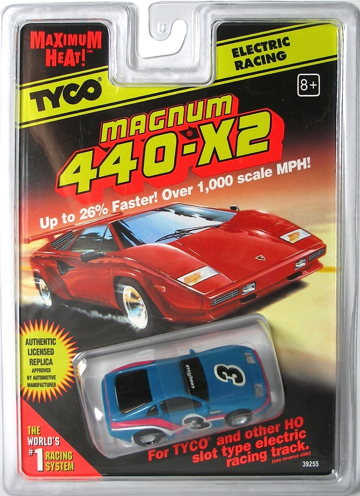 1997 tard Run Tyco 440-X2 NISSAN 300 ZX slot car rare Medium muettes Bleu  3 39255