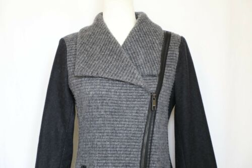 Zip Gray Asymmetrical Jacket Small Wool Women's Guess Blend w7vI8qx8