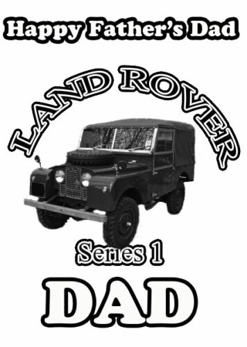 Land Rover  Happy Father/'s Day A5 Personalised Card pid361 Dad Grandad STEP