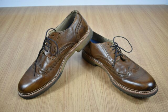 Frye James Crepe Wingtip Leather Oxford Men's Size 11.5 M Brown 84649