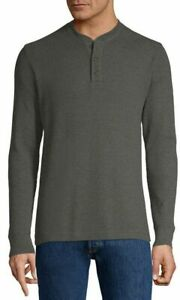 Men-039-s-St-John-039-s-Bay-Henley-Neck-Long-Sleeve-Thermal-Top-Sizes-Colors-MSRP-30