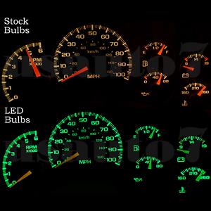 Image Is Loading Dash Cer Gauge Green Smd Led Lights Kit