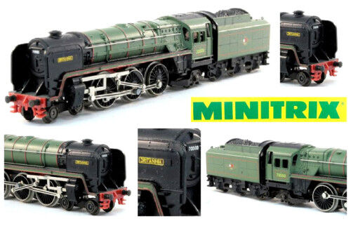 MINITRIX 203 VINTAGE LOCOMOTIVE STEAM BR70 STEAM-LOCO BRITANNIA BOX LADDER-N