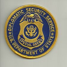 FEDERAL: DIPLOMATIC SECURITY  ! SPECIAL AGENT !! Police Polizei Abzeichen Patch
