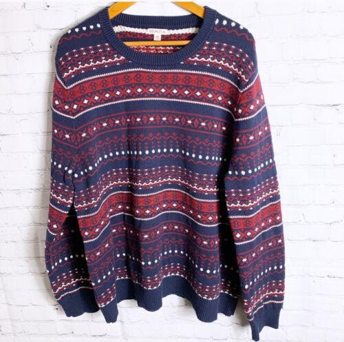 Mens Merona Light Weight Teal CrewNeck Sweater Size XXL NWT