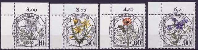 Berlin Nr. 621-623 gestempelt, LUXUS Eckrand Ecke 1 (42347)