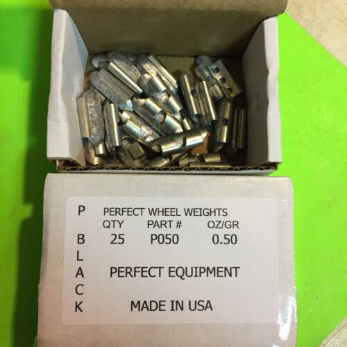 P050 PERFECT  UNCOATED CLIP ON LEAD WHEEL WEIGHTs 25 PCS
