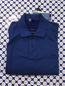 Harmont L0682 Blaine Mako Stretch Uomo Colletto Polo Doppio Blu p8dvOwng