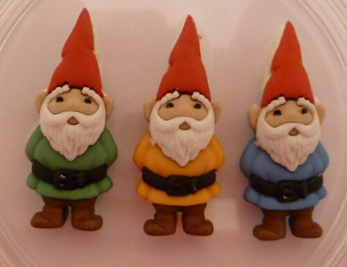 GNOMES SILICONE MOULD FOR CAKE TOPPERS CLAY ETC CHOCOLATE
