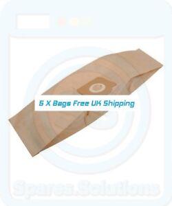 5 x ZR81 Vacuum Bags for Aquavac Super 30 Super 40 600 Hoover NEW