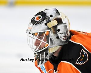 premium selection 80a26 8a428 Details about Alex Lyon Philadelphia Flyers Lehigh Valley IT mask 8 x 10