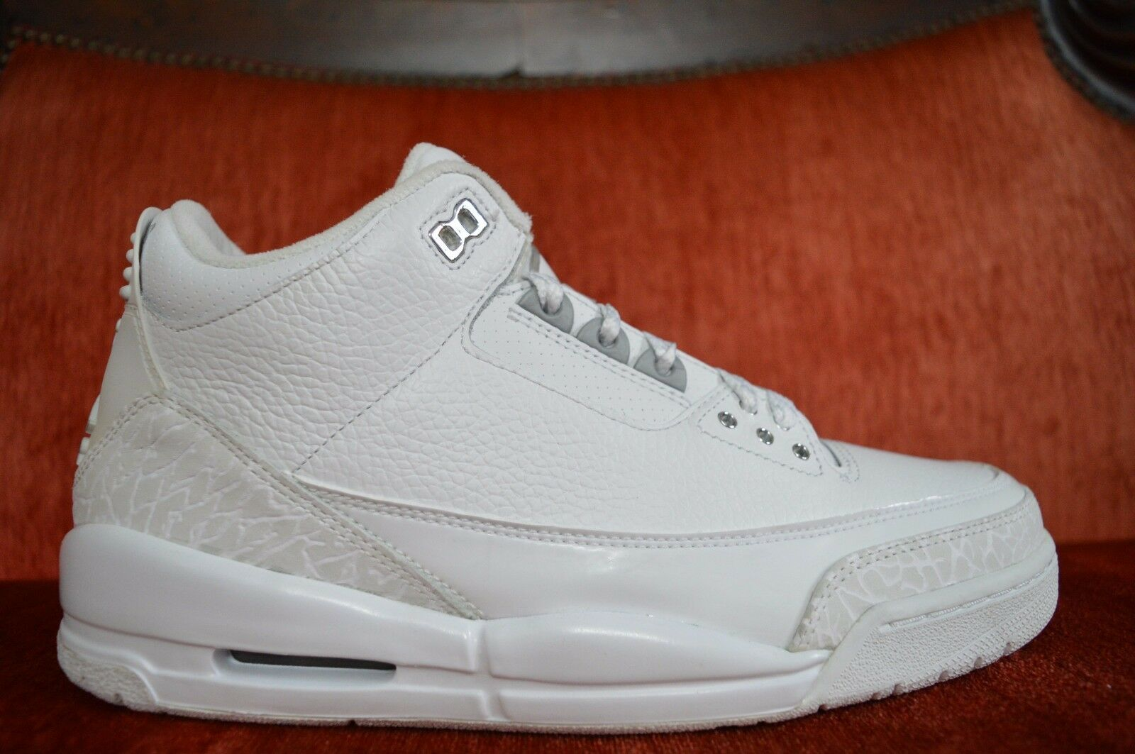 WORN ONCE Nike Air Jordan 3 Retro PURE Money White Metallic Comfortable New shoes for men and women, limited time discount