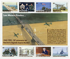 Nicaragua 1995 MNH WWII VE Day End World War II 8v M/S Churchill Stalin Stamps