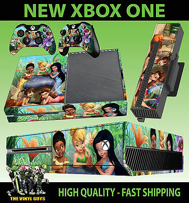 Hearty Xbox One Console Autocollant Tinkerbell And Friends Fées Pixies Skin & 2 Pad Video Games & Consoles Video Game Accessories