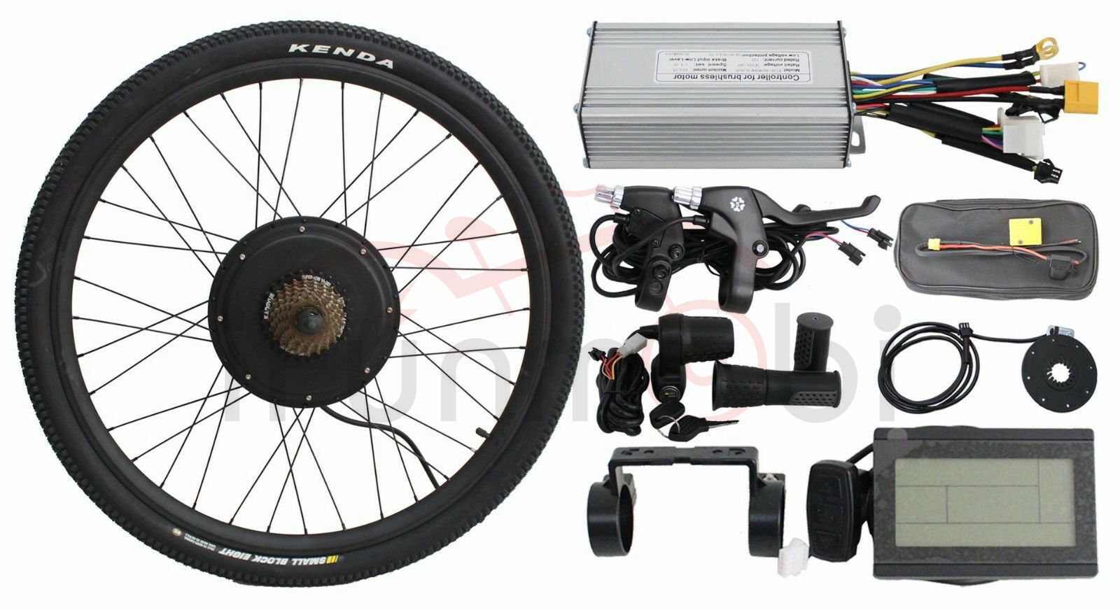 48V1500W 20  Threaded Rear Wheel Ebike Conversion Kits With Sine Wave Controller