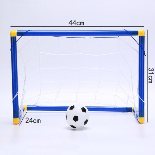 Folding Mini Football Soccer Goal Post Net Set with Pump Kids Sport Toy/_CHNIUS