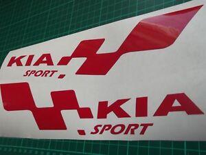 KIA sport  LARGE car vinyl sticker decal. 7 year vinyl