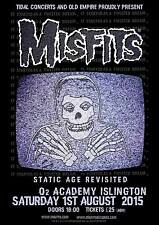 "MISFITS ""STATIC AGE REVISITED"" 2015 LONDON CONCERT TOUR POSTER-Horror Punk Music"