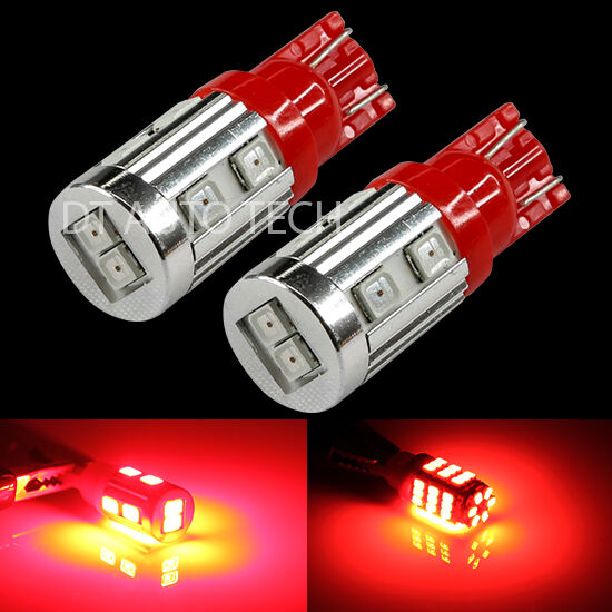 10X T10 192 194 High Power 2835 Chip SMD LED Red Interior Light Bulbs